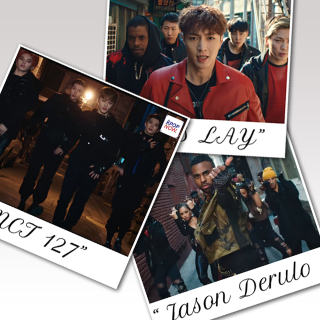 Polaroid Jason Derulo, EXO's Lay, NCT 127 by AT KPOP NOW